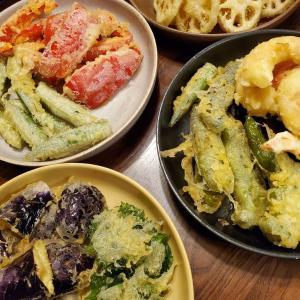831やさいの日に野菜の天ぷらと冬瓜