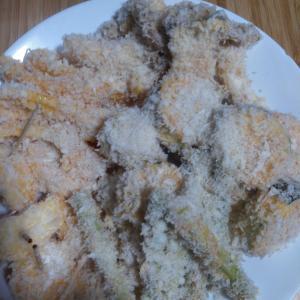 夕食はエビフライと野菜フライ