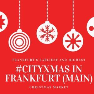 【CityXmas】フランクフルト一早いクリスマスマーケット|マインハッタンの夜景が望める屋根の上のシティクリスマス