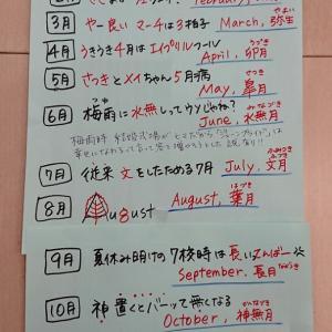 12ヶ月の旧暦と英語の覚え方考えたよ