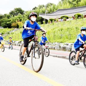 (社)南北統一運動国民連合慶南陜川郡支部統一念願の自転車行進
