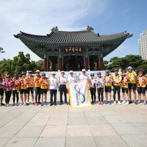 韓半島の統一・平和念願... 慶尚北道道民も楽しみに走った
