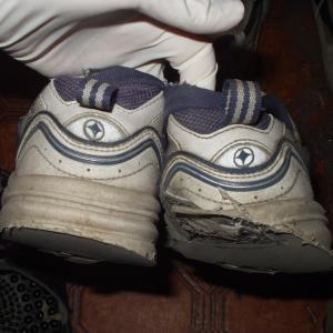 運動靴の減り方がおかしい
