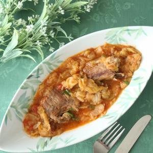 ∽Secondo piatto☆スペアリブと春キャベツの煮込み∽