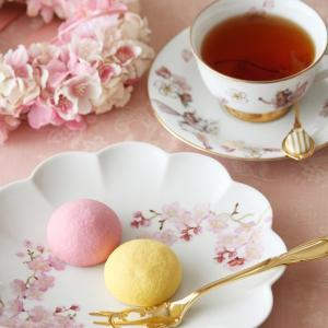 ◆カラフルな洋風和菓子あんまかろん◆ポーセラーツdeティータイム2021.4