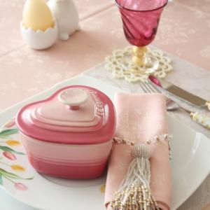 ☆チューリップが可愛いイースターのテーブルコーディネイト☆ポーセラーツdeテーブルコーデ