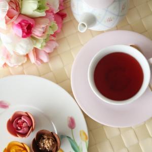 ◆華やかでキュート東京チューリップローズ◆ポーセラーツdeティータイム4月