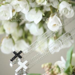 ◇シックな十字架のネックレス◇グルーデコMy Work4月