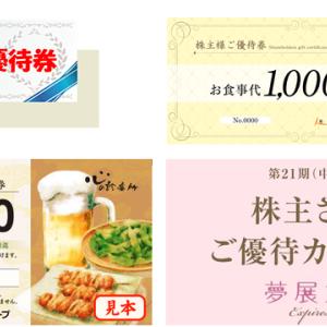 2019年9月の株主優待(厳選4銘柄)!