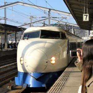 最期の0系を見た三原駅 20008.12.14(2)