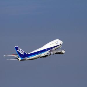 北海道へ Boeing747