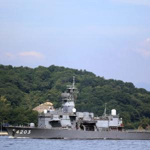今朝の 訓練支援船「てんりゅう」