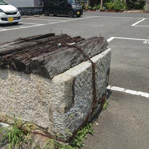 駐車場に古井戸