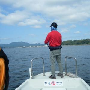 台風前の宍道湖は平常運転です。