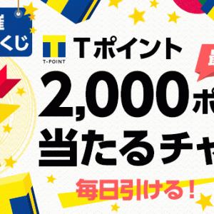 毎日1回チャンス!最大2000ポイントくじを無料で!(Yahoo!ズバトク毎日くじ・PayPayくじ)