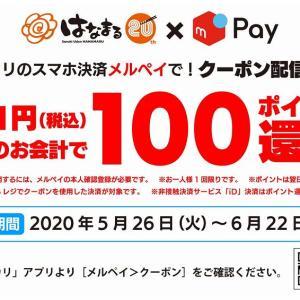 はなまるうどんでメルペイ100円引きキャンペーン開催!