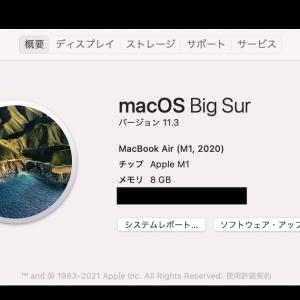 BigSurが11.3になりましたね。