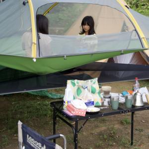 土曜日の夕方はまさかの雷雨!?だったけどなんとか止んでくれたのでキャンプスタート。