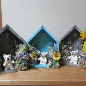 空くんママに素敵な虹の国の教会を作ってもらいました!今年のお盆は。。。。
