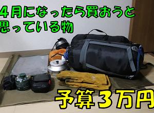 4月になったら買おうと思っている物。予算3万円で買う物をまとめます。