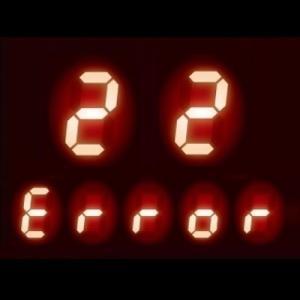 ガスコンロ エラーコード 22|感震停止機能作動の可能性