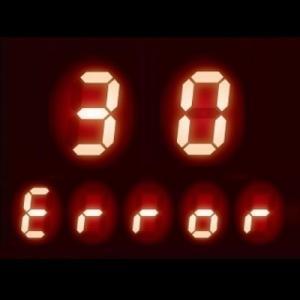 液晶に【30】が表示 - ガスコンロ エラーコード 30