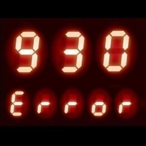 リモコンに【930】表示 - 給湯器 エラーコード 930|機器停止エラー