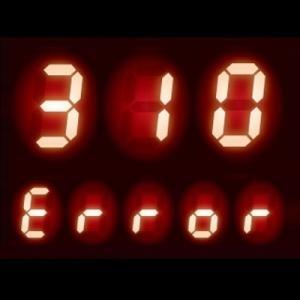 給湯器 エラーコード 310|低温を感知するサーミスタに異常が発生