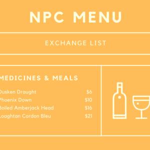 [5.3]主要NPCの交換品リストや配置場所(軍票)