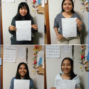 10月~11月の日本語研修センターの研修生