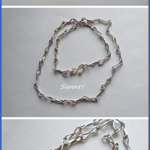 8月9日の彫金教室 ネックレスの留め金