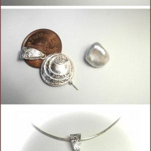 12月13日の彫金教室 淡水真珠を使って