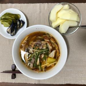 今日の夜ご飯☆どんぶりキムチ鍋