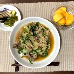 今日の夜ご飯☆白菜豚バラ丼