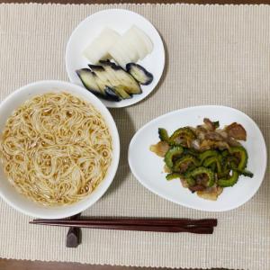 今日の夜ご飯☆ゴーヤと豚肉の炒め物