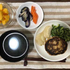 今日の夜ご飯☆ヘルシー豆腐ハンバーグ
