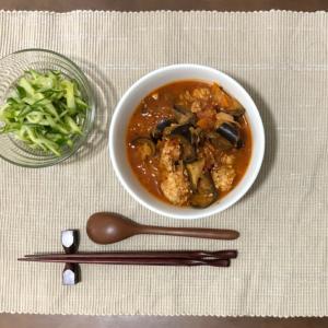 今日の夜ご飯☆豆腐ボールのトマト煮