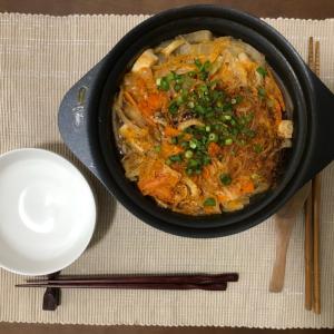 今日の夜ご飯☆キムチ鍋でひとり鍋