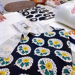 かわいいクッションカバーをちくちく手縫いで作りました★