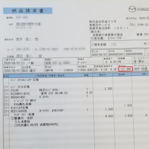 プレマシー エンジンオイル&オイルエレメント交換(127.948Km)