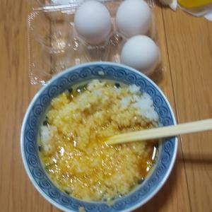 卵かけご飯 卵3個