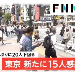 【速報】東京都で新たに15人の感染者 5/11