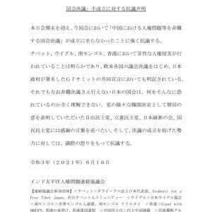 【ウイグル虐殺】ウイグル出身者ら、対中非難決議見送りに抗議 協力した自民党、立憲民主党、日本維新の会、国民民主党へ謝意
