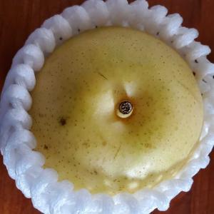旬の梨を日々食べ続ける