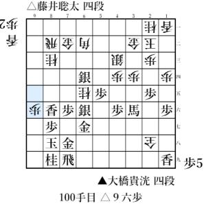 新人王戦 大橋貴洸 四段 対 藤井聡太 四段(2017/03/10)