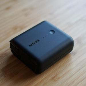 3in1のミニマルなモバイルバッテリー PowerCore Fusion 5000【Anker】