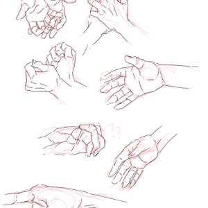 手のクロッキー