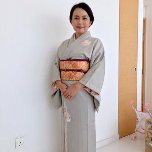 シンガポールで着付けレッスン②訪問着と袋帯♡