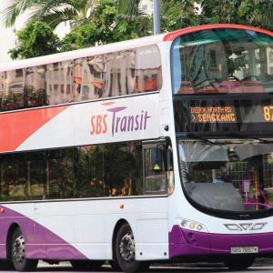 シンガポールでは電車よりもバス