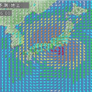 [DIARY] 台風19号は夕方大接近